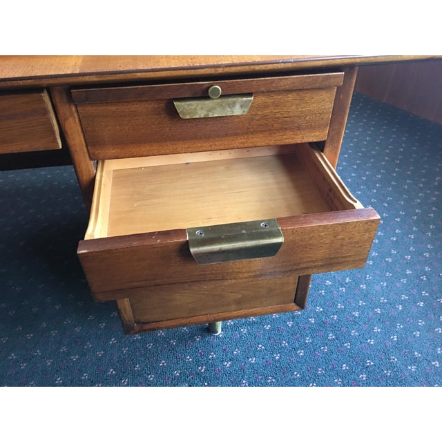 Mid Century Executive Desk by the Standard Furniture Co. - Image 7 of 10