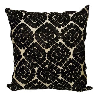 Moroccan Black Embroidered Pillow