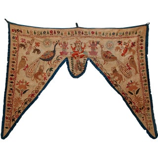 Antique Asian Embroidered Valance
