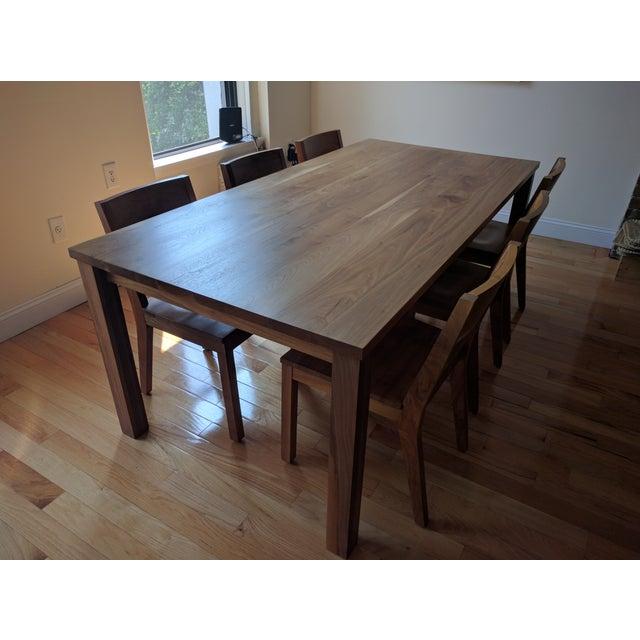 Room & Board Walnut Dining Table Set - Image 2 of 5