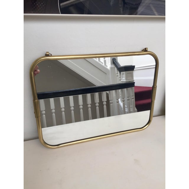 Image of Art Deco Brass Horizontal Mirror