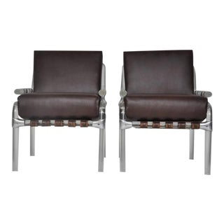 "Lucite Pair of ""1000 Pipe Line Series Chairs"" by Jeff Messerschmidt"