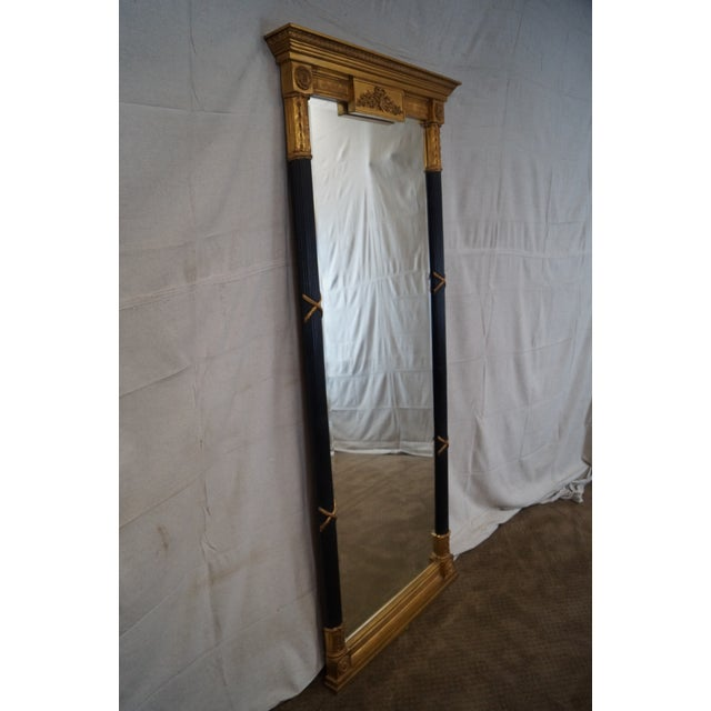 LaBarge Ebonized and Gilded Classical Style Mirror - Image 2 of 10