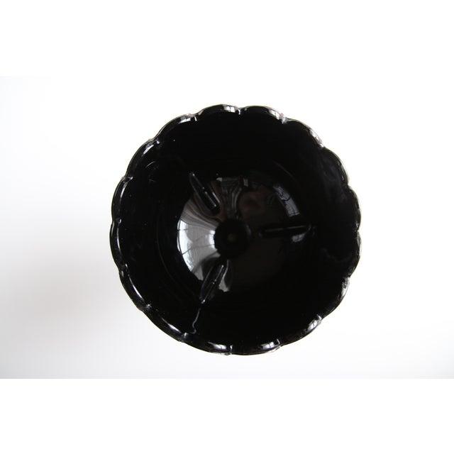 Black Milkglass Flower Bowl Chairish