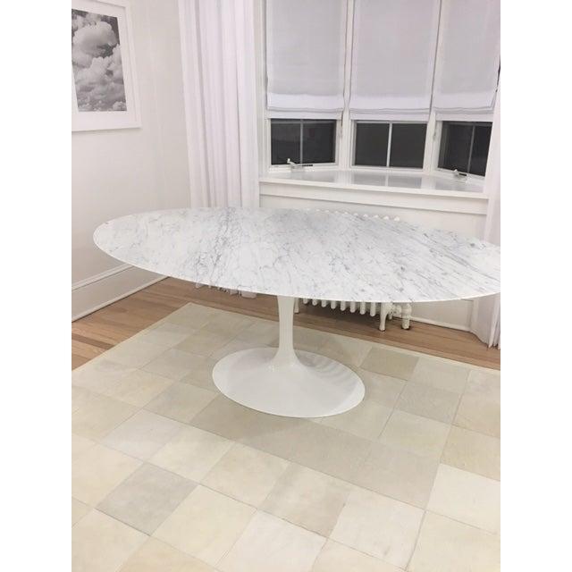 Knoll & Eero Saarinen White Dining Table - Image 4 of 11