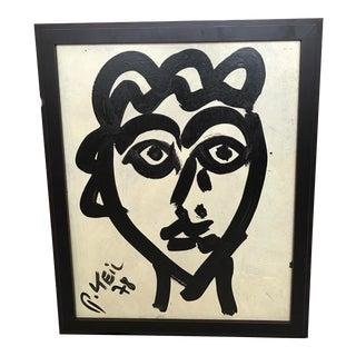Franz Kline Style Face Painting