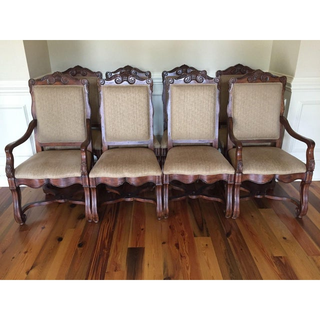 Hekman Loire Valley French Country Dining Chairs - Set of 8 - Image 2 of 3