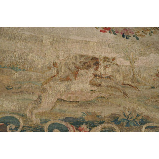 Louis XV Carved Gilt & Aubusson Tapestry Canapé - Image 8 of 10