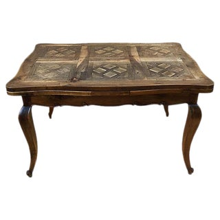 1930s French Signed Parquetry Dining Table