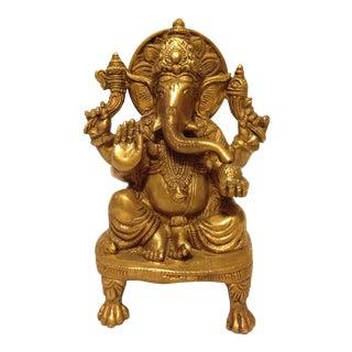 Solid Brass Ganesha Figure