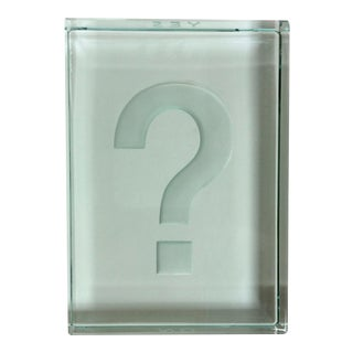 Question Mark Glass Paper Weight