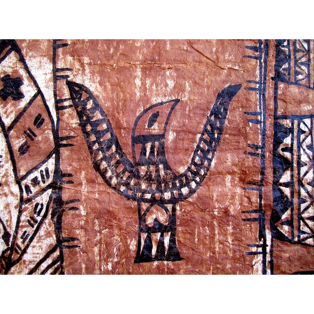 Monumental Tapa Cloth Panels - A Pair - Image 3 of 4
