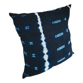 Vintage Indigo African Mudcloth Pillow