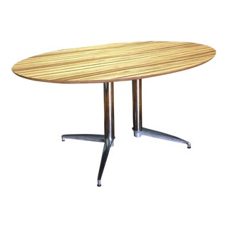 Crate & Barrel Modern Round Dining Table