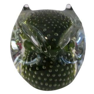 Mid Century Bubble Glass Owl