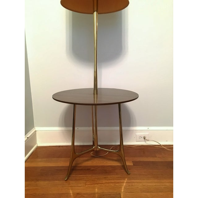 mid century modern tray table floor lamp chairish. Black Bedroom Furniture Sets. Home Design Ideas