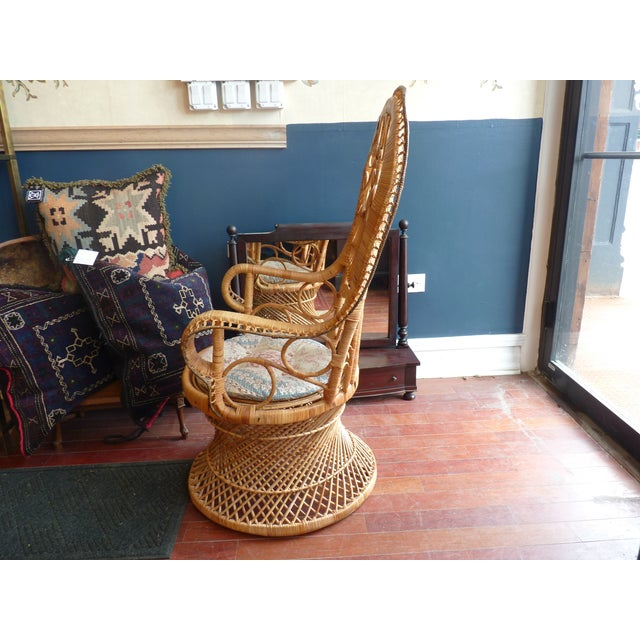 Curly Wicker Throne Chair - Image 8 of 9