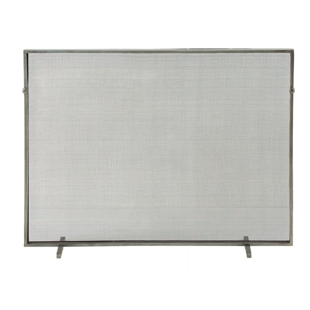 Image of New Antique Zinc Finish Fire Screen