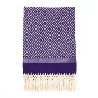 Purple Diamond Handwoven Throw