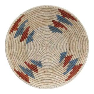Native American Style Rust & Blue Alternating Basket