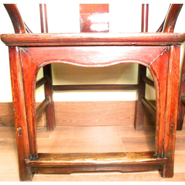 Antique Chinese Ming Armchairs - A Pair - Image 9 of 9