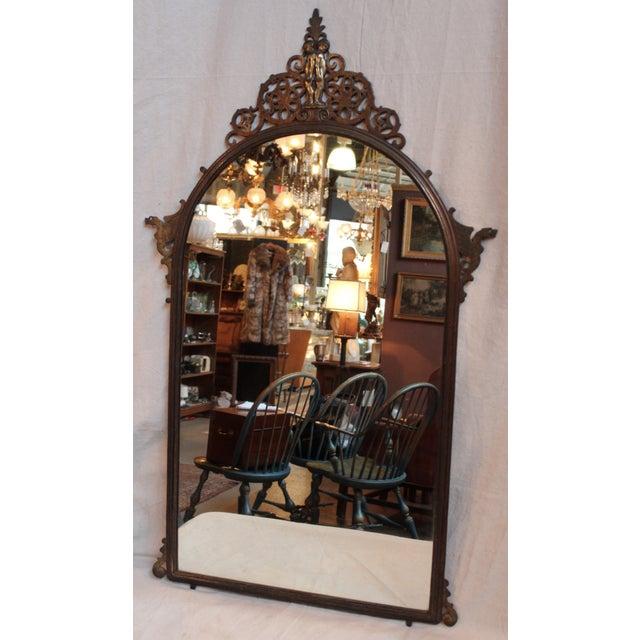 1920's Oscar Bach Neo-Gothic Mirror - Image 2 of 7