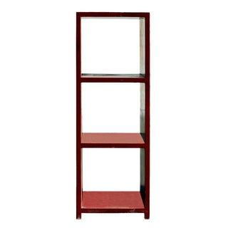 Chinese Distressed Red Shelf