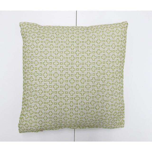 "Seema Krish Green ""Altamount Road"" Pillow - Image 2 of 4"