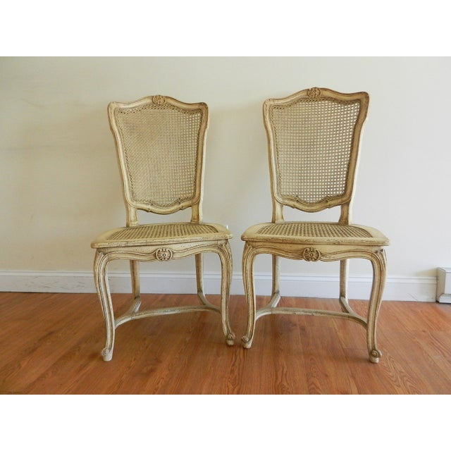 Image of Louis IV French Provincial Side Chairs - A Pair