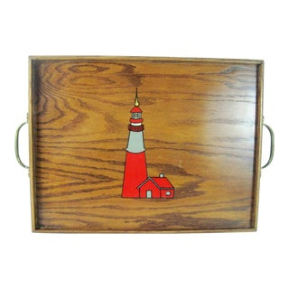 Lighthouse Wooden Serving Tray