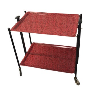 1950s Collapsible Bar Cart