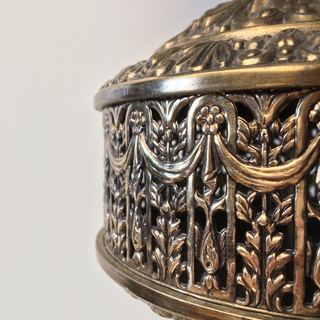 Moroccan Filigree Brass Lamp - Image 3 of 5