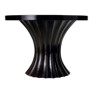 Fluted Entry Table Base - Antique Copper