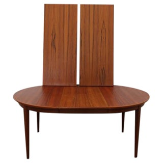 Circular Dining Table by Børge Rammeskov for Sibast Furniture with Three Leaves