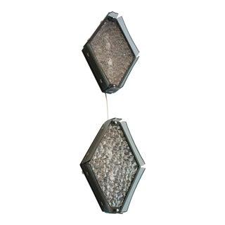 Pair Italian Diamond Sconces