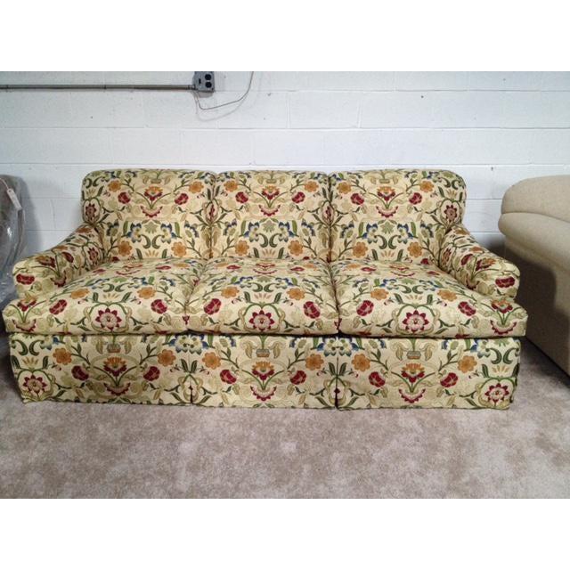 Portuguese Tapestry Uphulsyered Willis Sofa - Image 2 of 6