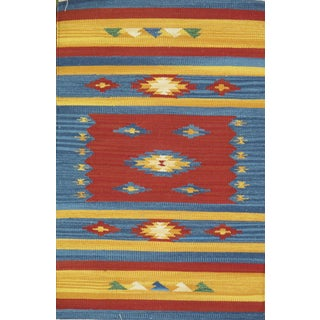 Anatolian Hand-Woven Cotton Rug- 4′ × 6′