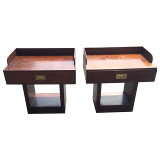 Directional Mid-Century Nightstands - A Pair