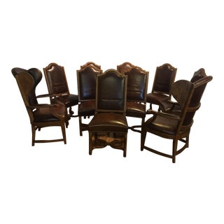 Century Furniture Leather Dining Chairs - Set of 10