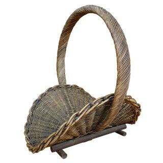 1940s Woven Flower Basket