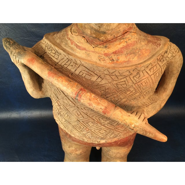Pre-Columbian Colima Standing Pottery Figure - Image 5 of 11