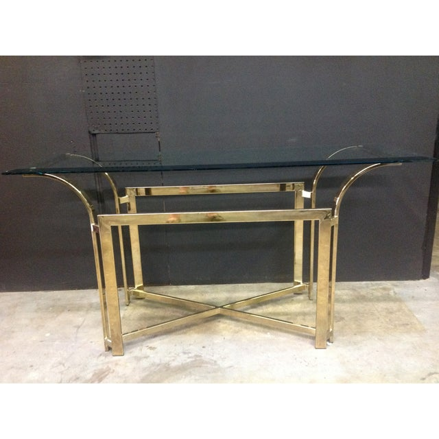 DIA Style Brass Console Table - Image 4 of 7