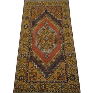 "Vintage Turkish Oushak Rug - 3'6"" x 6'7"""