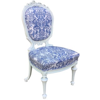 Brigette French Blue Toile Side Chair