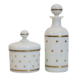 French Portieux Vallerysthal Vanity Set - A Pair