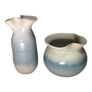 Vintage Handmade Pottery Vessels - Pair