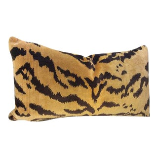 "Scalamandre Gold & Black ""Tigre""Pillows - A Pair"
