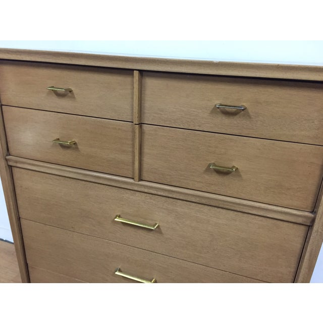 Kent Coffey Vintage Mahogany & Brass Tall Dresser - Image 6 of 9