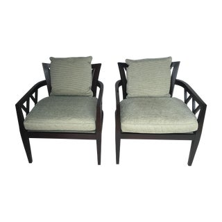Baker Barbara Barry Double X-Back Chairs - Pair
