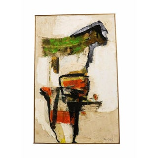Vintage 1960s Abstract Mixed Media Collage